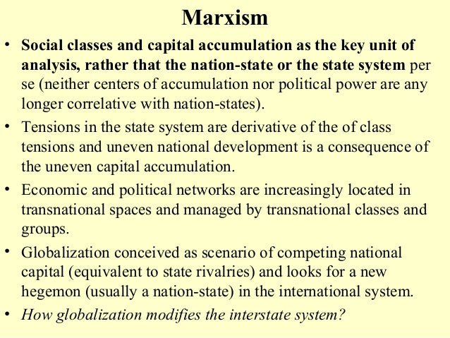 marxism in international relations Constructivism (international relations) for decades,  and comes at the heels of existing international relations theories of realism, liberalism, and marxism.