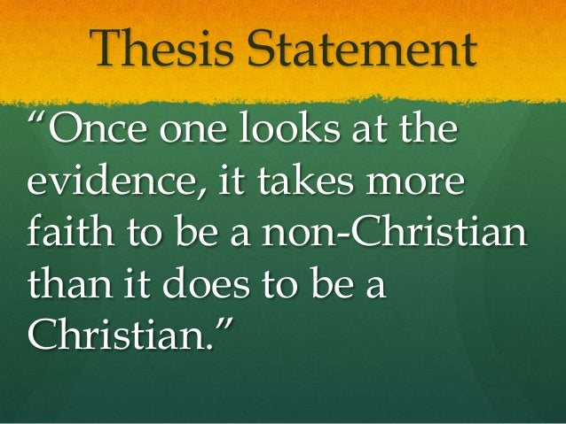 thesis statement islam Personal statement islam and christianity: a comparison in practice the two almost similar in many aspects of belief systems are christianity and islam.