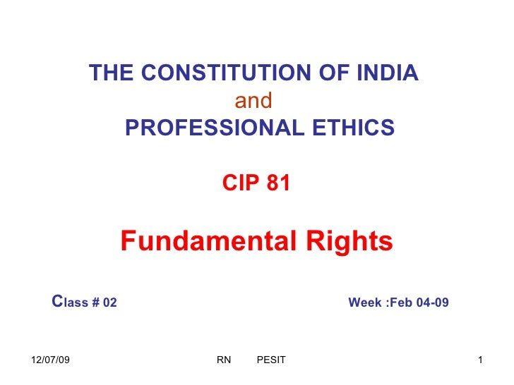 Class3 Fundamental Rights