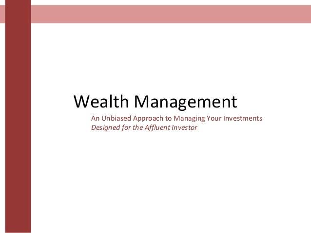 Wealth Management - Week 3