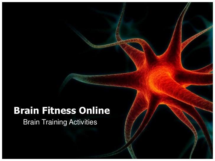 Brain Fitness Online Brain Training Activities