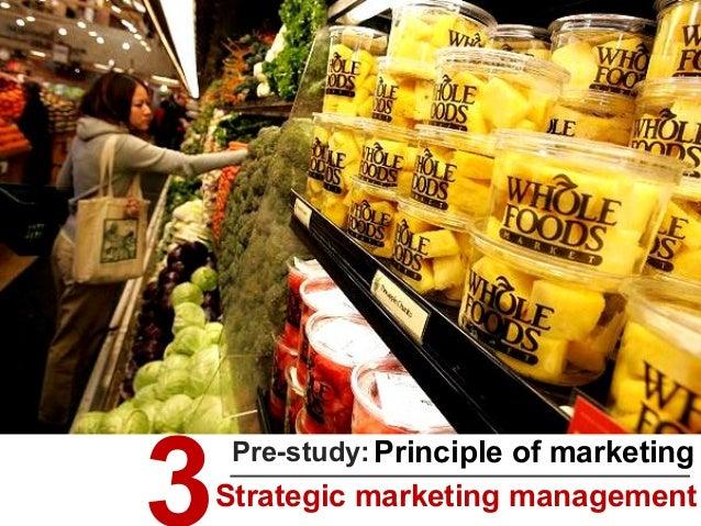 Principle of marketingPre-study: Strategic marketing management
