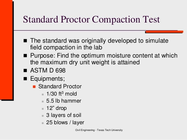 Test proctor cover letter class 4 soil compaction for Test proctor cover letter
