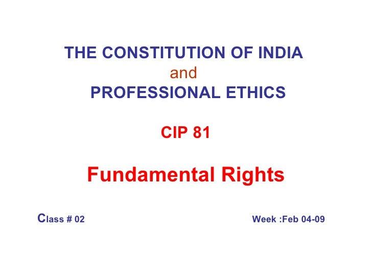 Class4 Fundamental Rights