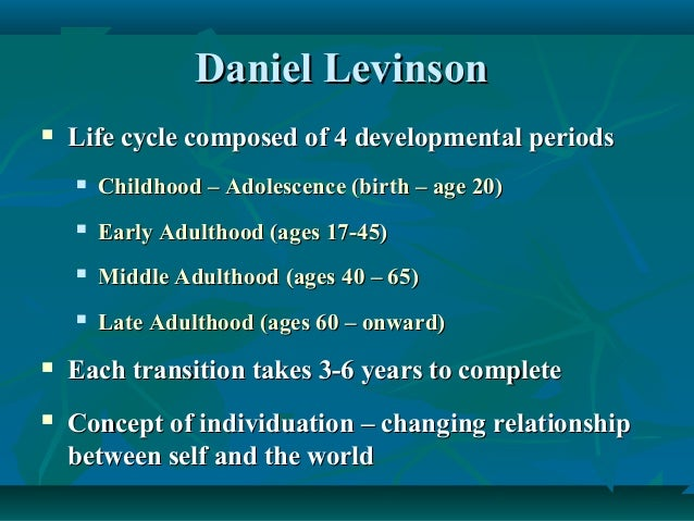 Daniel Levinson and his theories?