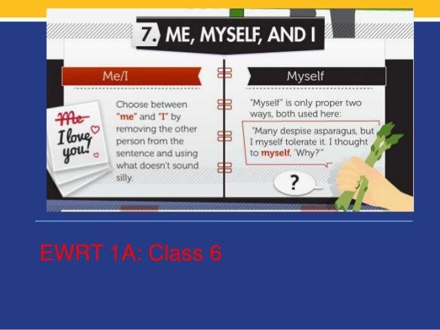 EWRT 1A: Class 6