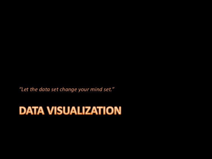 """""""Let the data set change your mind set."""""""