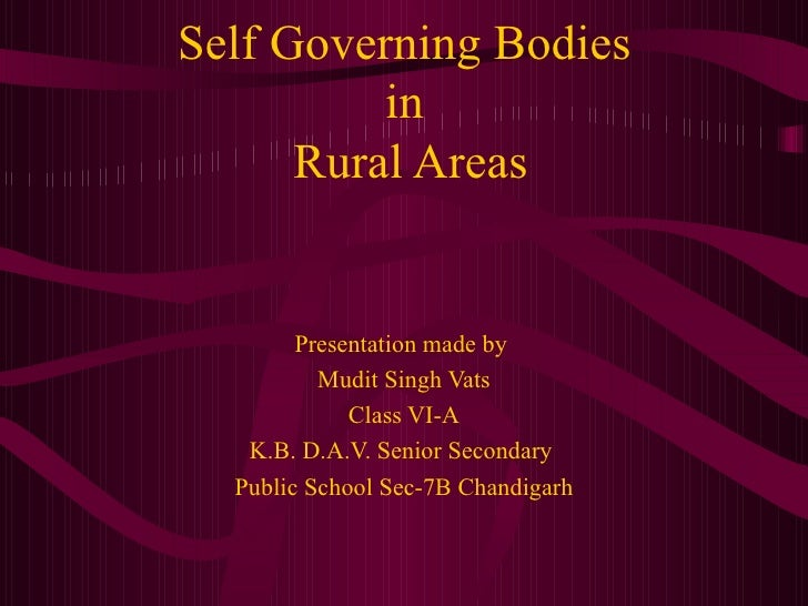 Essay on local self government bodies