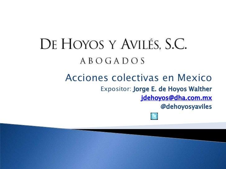 Acciones colectivas en Mexico