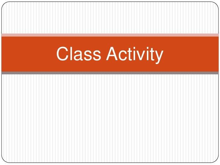 فئةالنشاط<br />Class Activity<br />