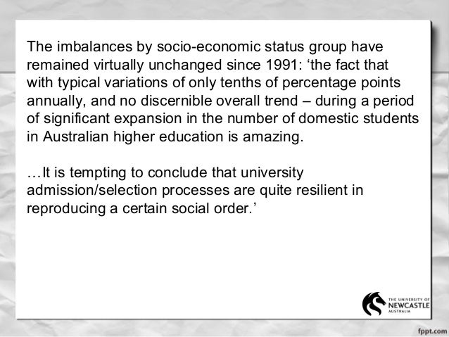 Does anyone know what the socio economic groups in Australia are?