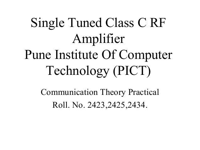 Class c amplifier_ct