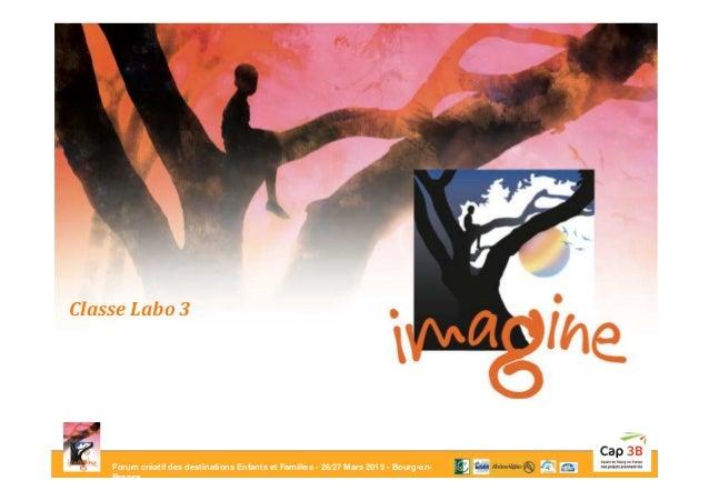 Forum créatif des destinations Enfants et Familles - 26/27 Mars 2015 - Bourg-en- Bresse Classe Labo 3
