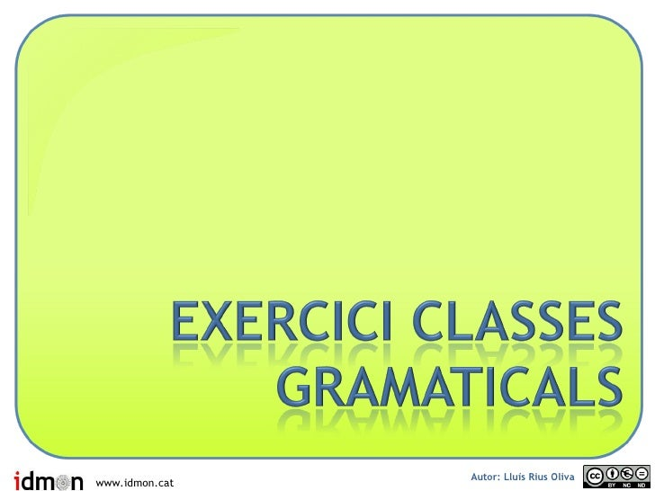 Classes Gramaticals