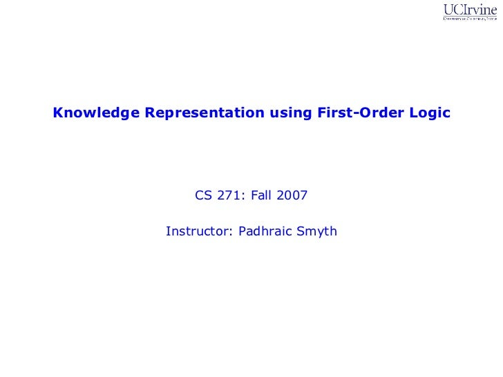 First order logic homework solution