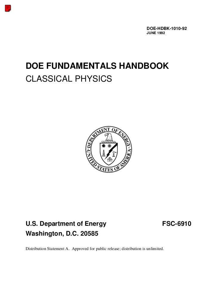 DOE-HDBK-1010-92                                                                        JUNE 1992     DOE FUNDAMENTALS HAN...