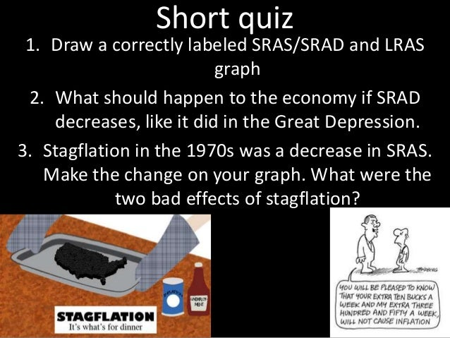 Short quiz 1. Draw a correctly labeled SRAS/SRAD and LRAS graph 2. What should happen to the economy if SRAD decreases, li...
