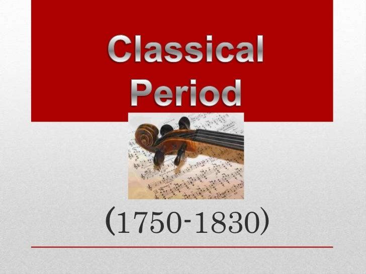 Classical Period Pt 1