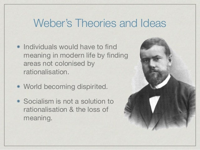 weber and durkheim theories of rationalisation Start studying max weber marx and durkheim, weber's writing ''the protestant ethic and spirit of capitalism'' weber explains rationalisation.