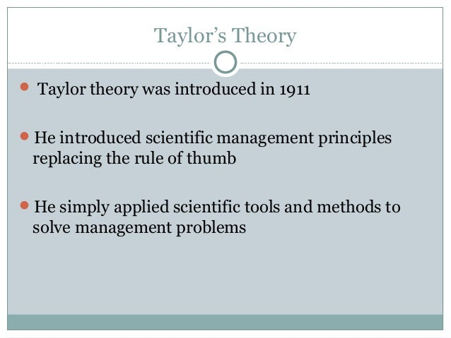 taylor s scientific management that applied in tesco Taylor maintained that scientific management is generic and applicable to all  levels  apply to different groups of society and how relevant are taylor's  concepts.