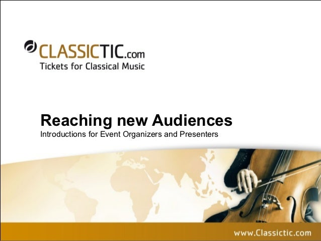 Classictic Tickets for Classical Music