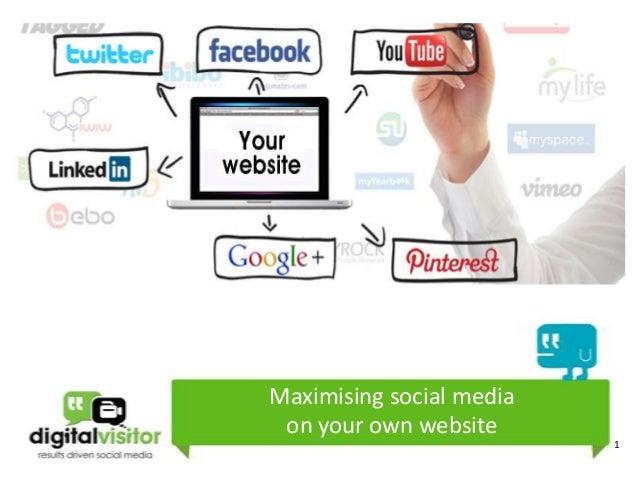 Maximising social media on your own website                          1