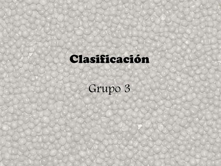 Classificacion ii