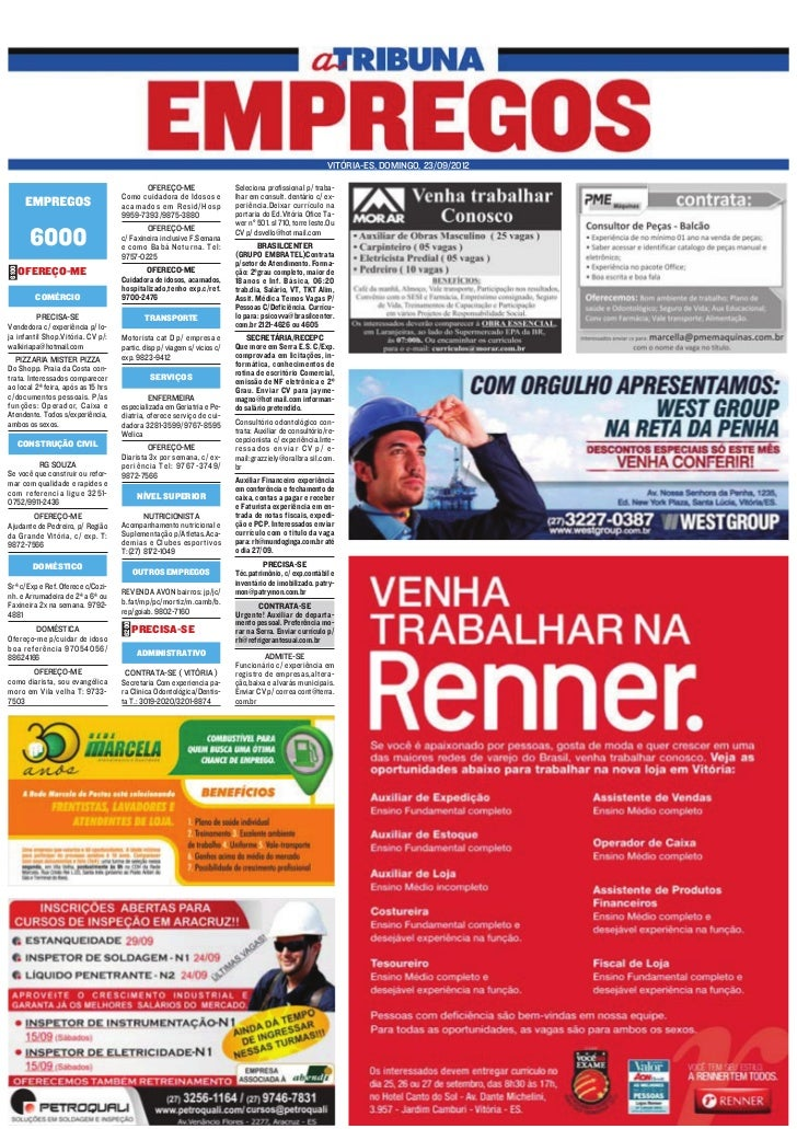 VITÓRIA-ES, DOMINGO, 23/09/2012                                            OFEREÇO-ME                    Seleciona profiss...