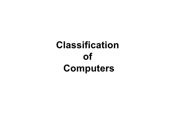 Classification 10