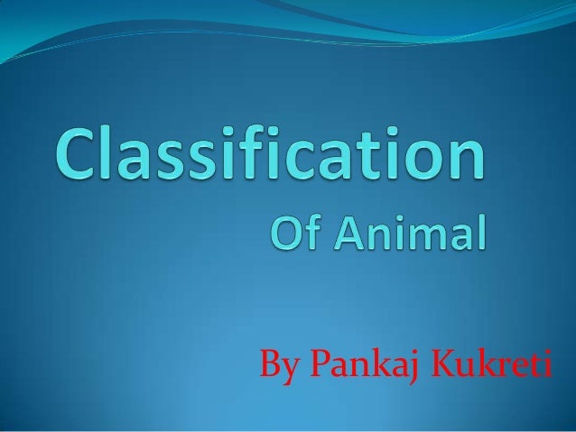 Classification of animal
