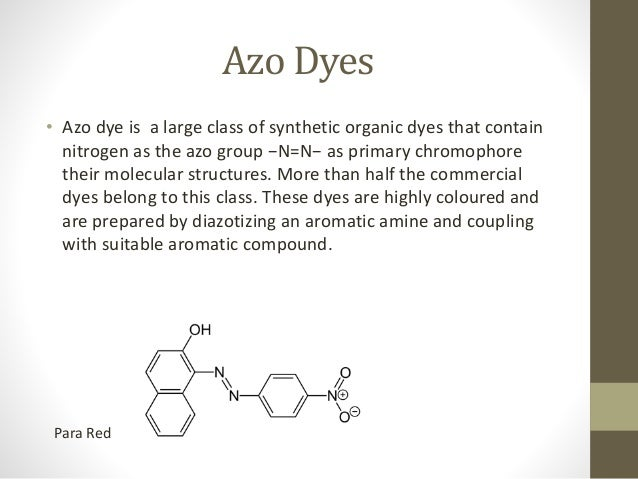 preparation of azo dyes Composite nanotubes for photodegradation of azo dyes cheng yang1 models of a series of common azo dyes preparation of polyaniline/tio 2.