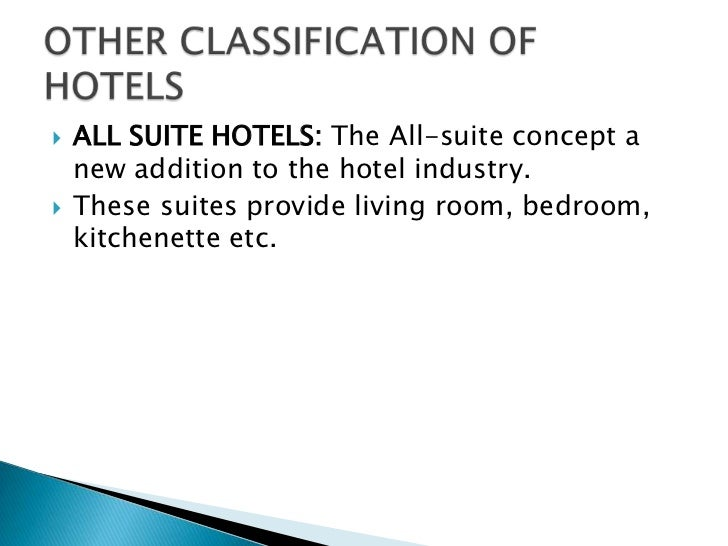 Classification Of Hotels