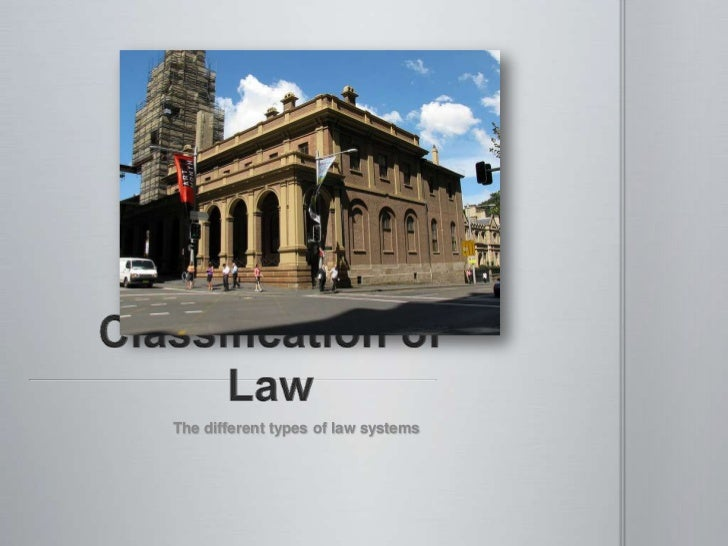 Classification of law 1