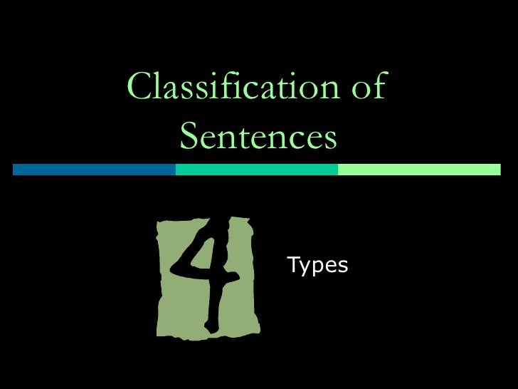 Classification of Sentences Types