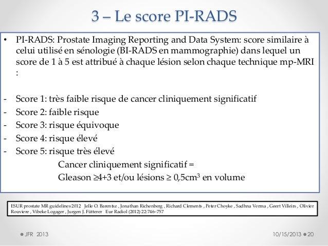 Classification pi rads