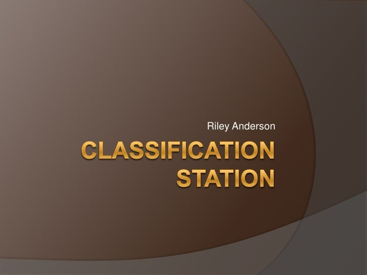 Classification Station  Riley A.