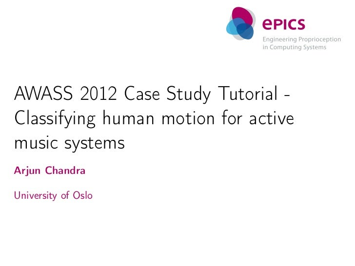 Classifying human motion for active music systems