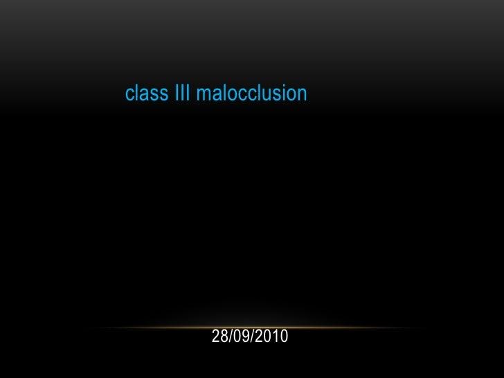 دائرة صحة ديالى<br />المركز الصحي التخصصي لطب الاسنان في بعقوبة<br />وحدة التقويم<br />class III malocclusion<br />اعداد<b...