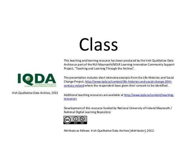 Class IQDA2013