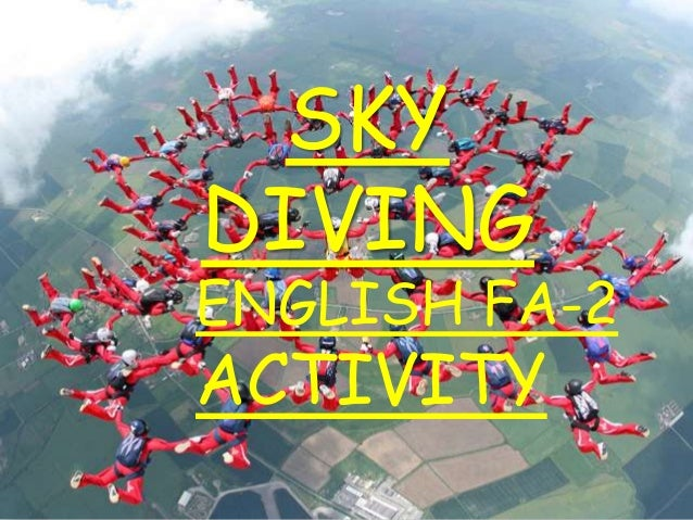 SKY DIVING ENGLISH FA-2 ACTIVITY