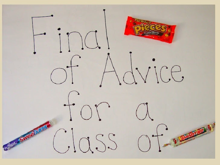 Good luck, Class of 2012!             -Mr. and Mrs. Evans