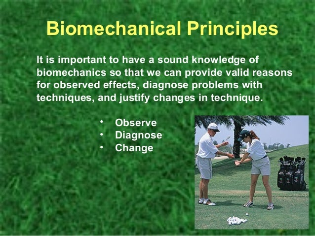 biomechanics of golf essay Biomechanics essay balance & stability centre of  example a golfer has to train their centre of gravity to get the best from themselves on a golf swing  biomechanics is used to.
