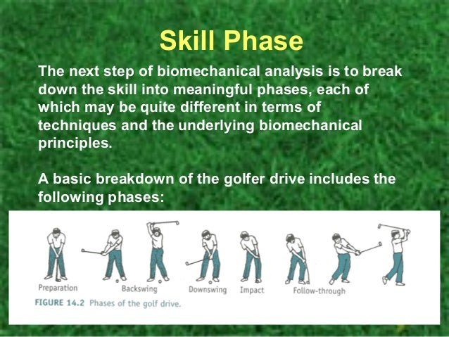 biomechanics of the golf swing essay Mechanics is the development of the proper biomechanics of the golf swing physical entails developing the body around the golf swing nutrition incorporates fueling the body for proper success on the golf course.