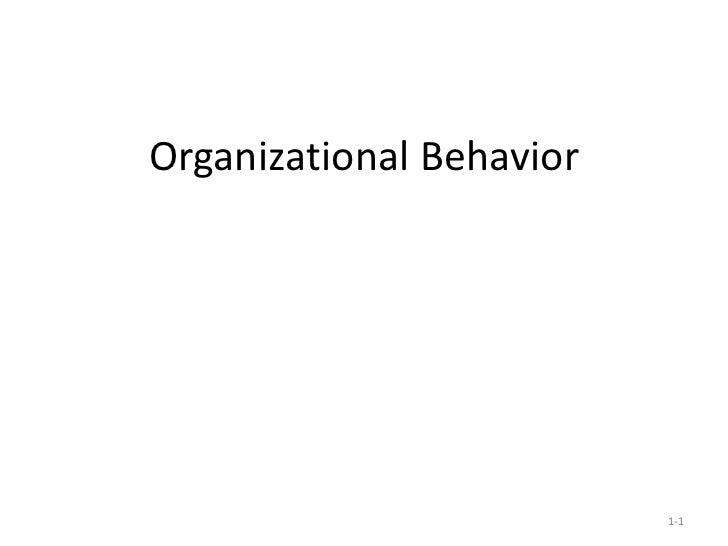 Organizational Behavior 1-
