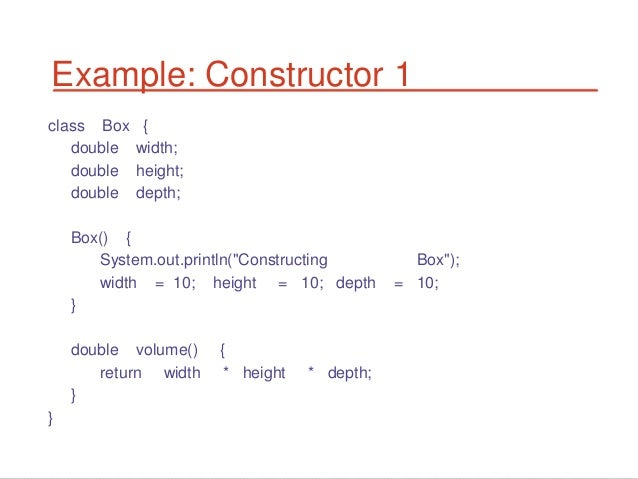 java assign this in constructor