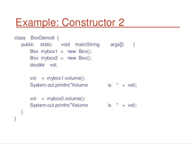 how to write a method in java example