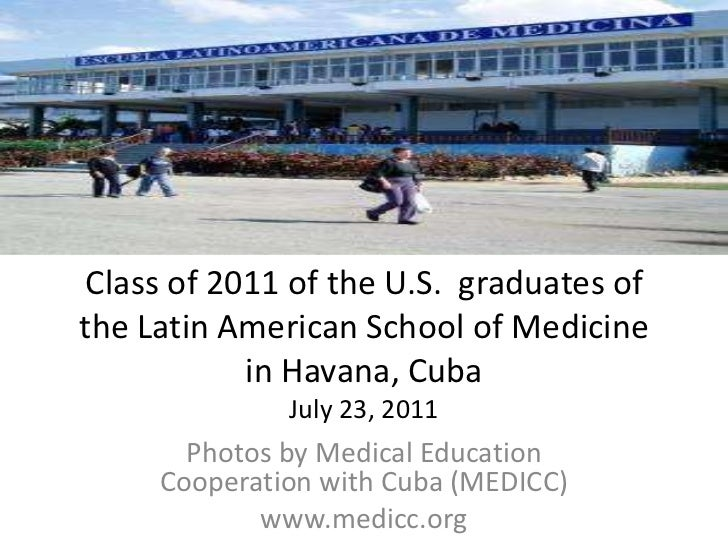 Class of 2011 of the U.S.  graduates of the Latin American School of Medicine in Havana, CubaJuly 23, 2011<br />Photos by ...