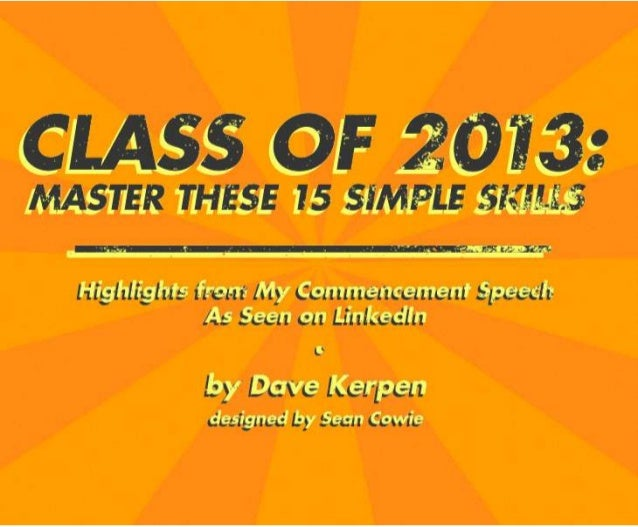Class of 2013:  Master These 15 Simple Skills