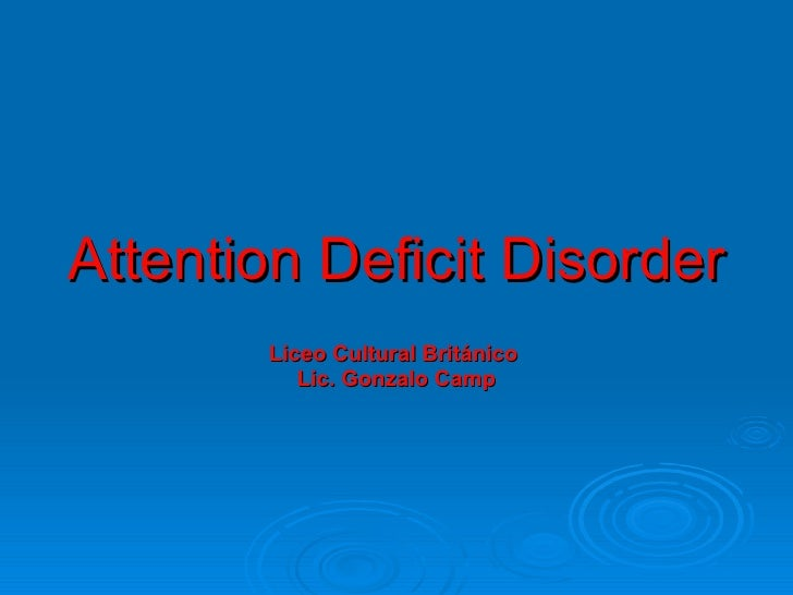 Class On Attention Deficit Disorderteens