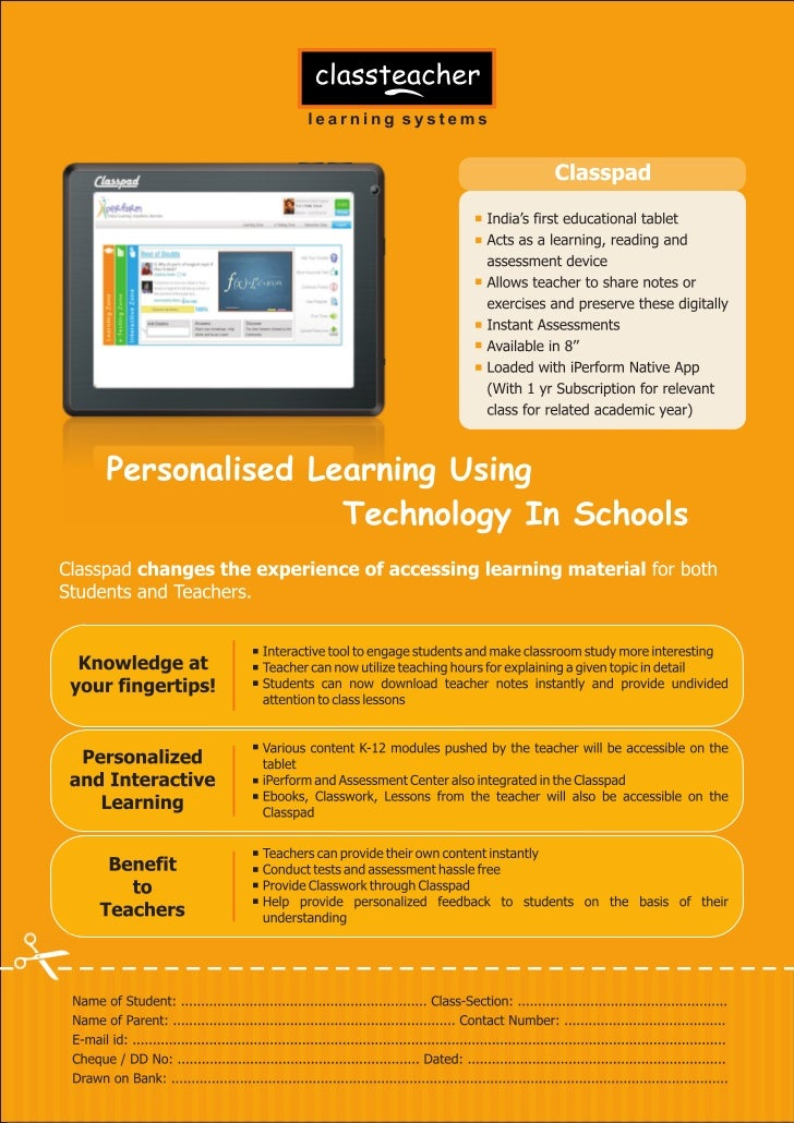 ClassPad educational tablet for students